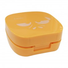 5. Cute Cartoon Contact Lens Set Case in Orange