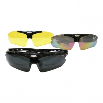 AT9413 3 in 1 Interchangeable Flippable Sport Sunglasses